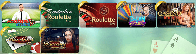 Verschiedene Sunnyplayer Casino Live Games
