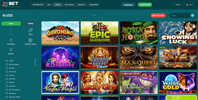 Die 22Bet Casino Plattform