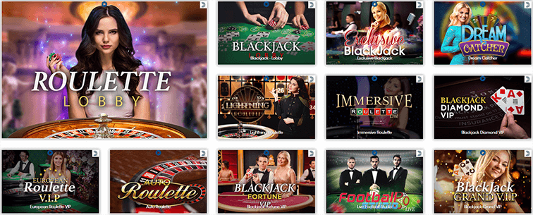 Live Games des Sloty Casinos
